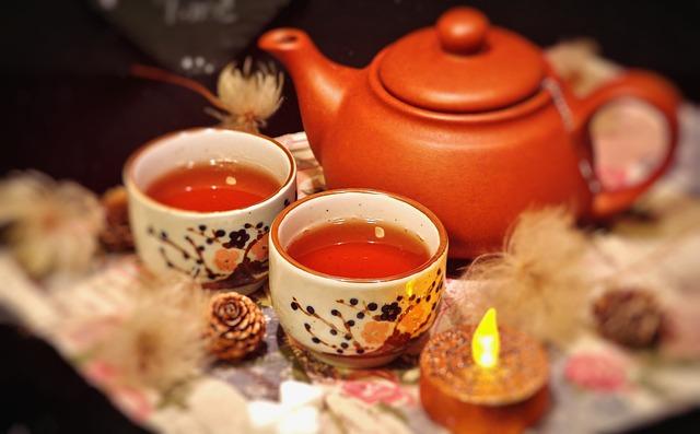 Teezeit im Winter