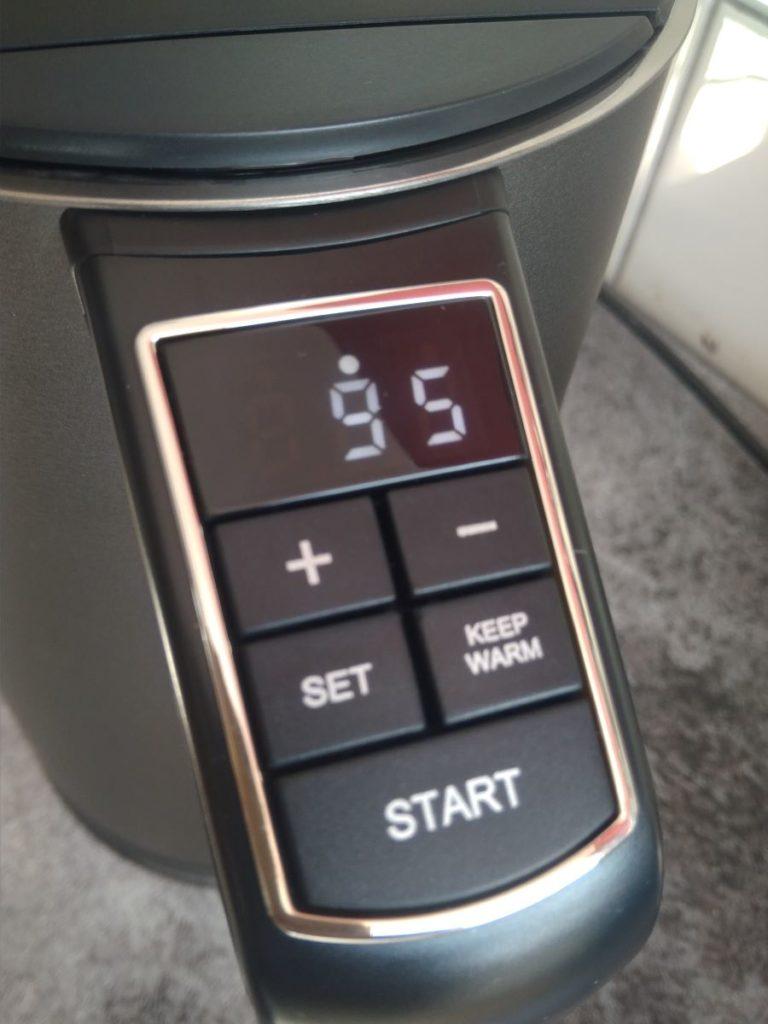 Temperaturdisplay des Arendo Wasserkochers